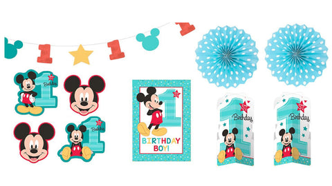 Mickey Mouse 1st Birthday Decorating Kit My Little Party Shop