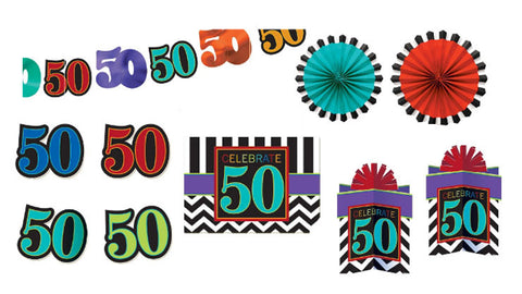 50th Birthday Chevron Decorating Kit
