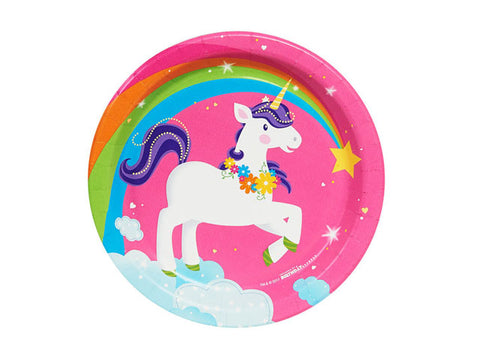 Fairytale Unicorn 7-inch paper plates (8 ct)