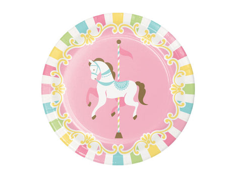 Carousel Party 7-inch paper plates (8 ct)