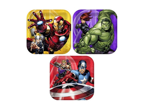 Avengers 7-inch paper plates (8 ct)