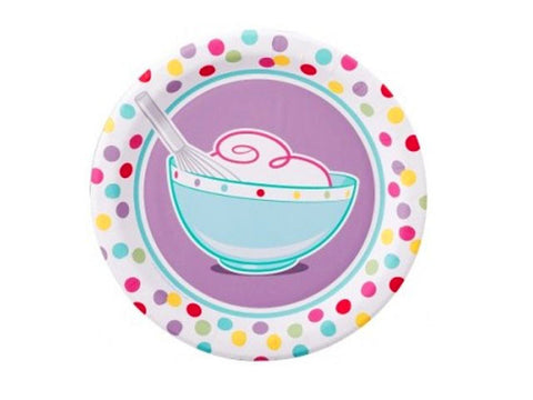 Bake Bash 7-inch paper plates (8 ct)