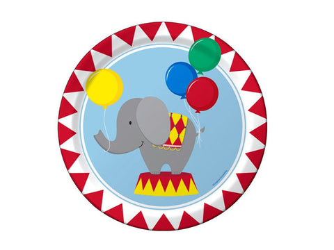 Circus Fun 7-inch paper plates (8 ct)