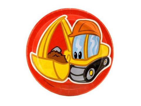 Construction Pals 7-inch paper plates (8 ct)