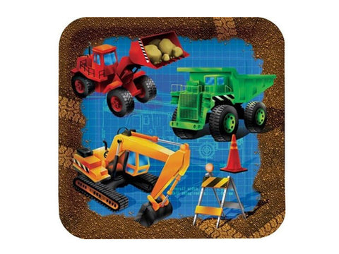 Construction Trucks 7-inch paper plates (8 ct)