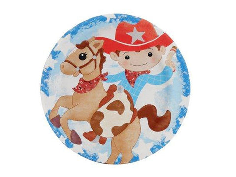 Cowboy 7-inch paper plates (8 ct)