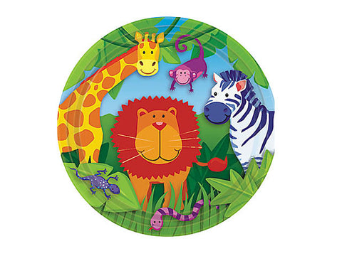 Animal Safari 7-inch paper plates (8 ct)