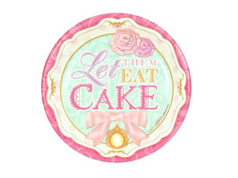 Let Them Eat Cake 7-inch paper plates (8 ct)