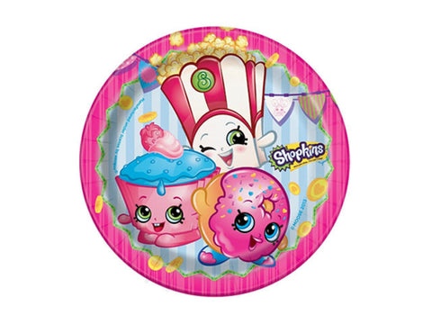 Shopkins 7-inch paper plates (8 ct)