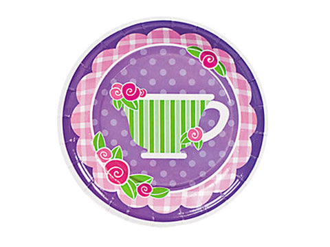Tea Party 7-inch paper plates (8 ct)