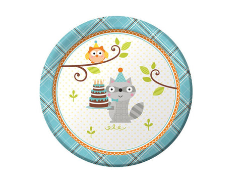 Woodland Birthday 7-inch paper plates (8 ct)