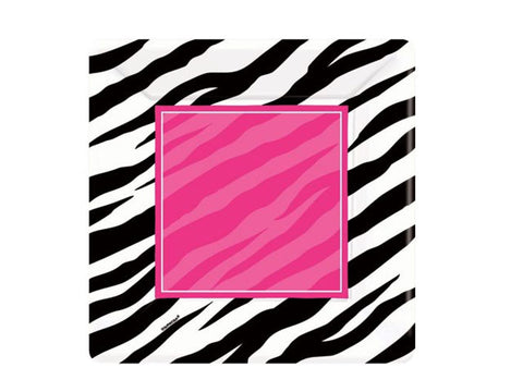 Zebra Glam Party 7-inch paper plates (8 ct)