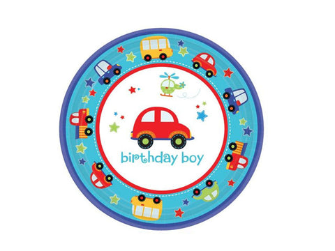 All Aboard 1st Birthday 7-inch paper plates (18 ct)