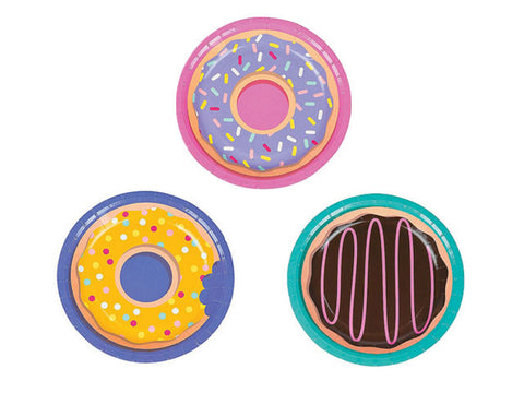 Donut Party 7-inch paper plates (8 ct)