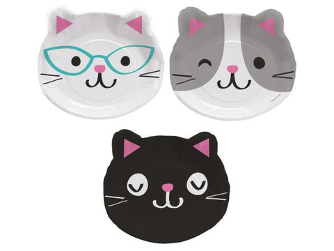 Kitten Party 9-inch paper plates (8 ct)