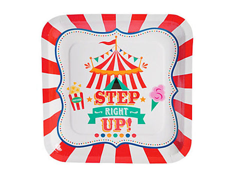 Carnival Party 9-inch paper plates (8 ct)