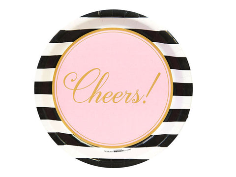 Cheers to You 9-inch paper plates (8 ct)