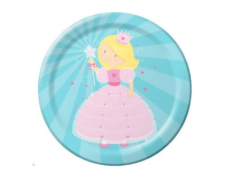 Fairytale Princess 9-inch paper plates (8 ct)
