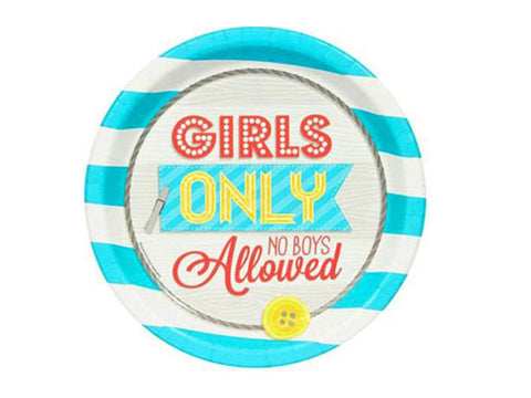 Girls Only 9-inch paper plates (8 ct)
