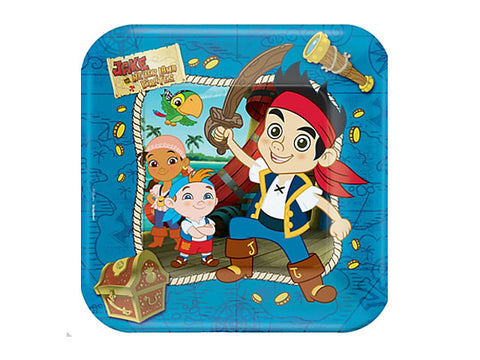 Jake and the Neverland Pirates 9-inch paper plates (8 ct)