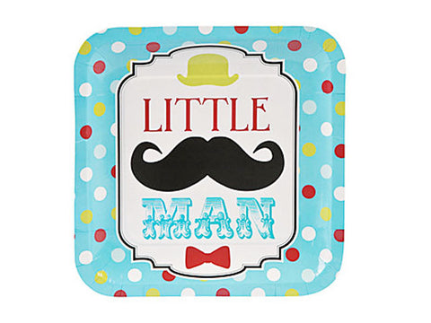 Little Man 9-inch paper plates (8 ct)