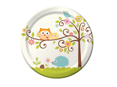Owl Baby Shower 9-inch paper plates (8 ct)