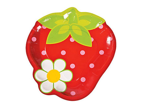 Strawberry Party 9-inch paper plates (8 ct)