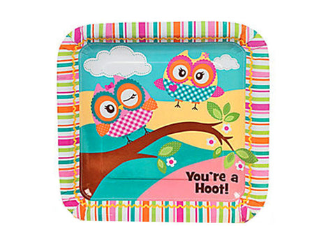 You're a Hoot Owl 9-inch paper plates (8 ct)