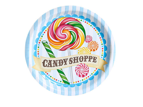 Candy Shoppe 9-inch paper plates (8 ct)