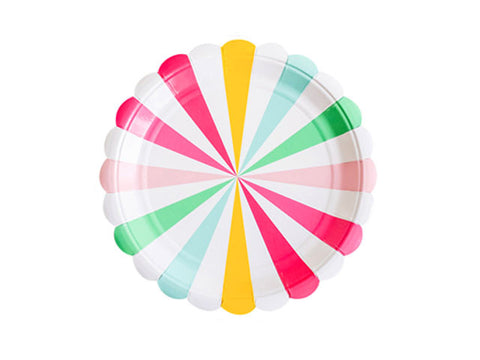 Candy Pinwheel 9-inch paper plates (8 ct)
