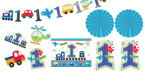 All Aboard 1st Birthday Decorating Kit