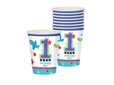 All Aboard 1st Birthday Paper Cups (18 ct)