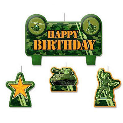 Army Camo Birthday Candle