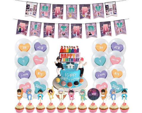 BTS Birthday Decorating Kit