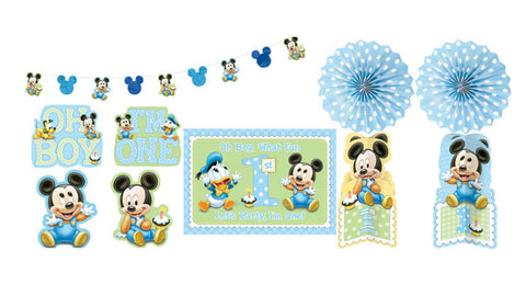 Baby Mickey 1st Birthday Decorating Kit My Little Party Shop