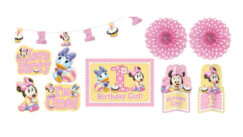 Baby Minnie 1st Birthday Decorating Kit