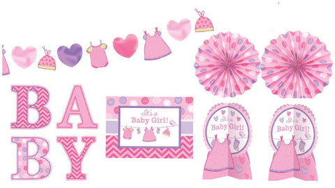 It's a Girl Baby Shower Decorating Kit