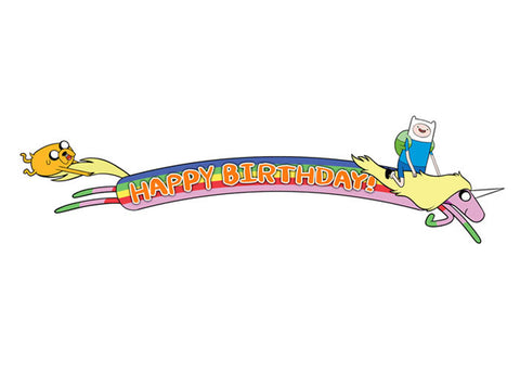 Adventure Time Birthday Banner