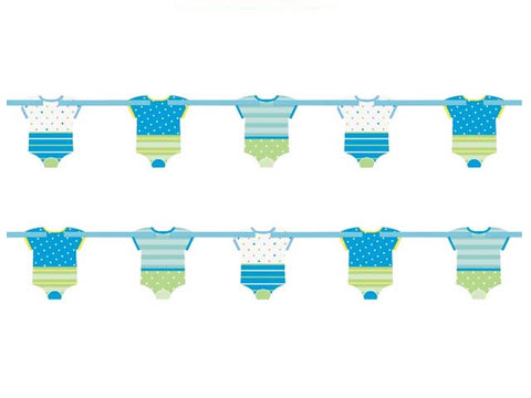 Blue Dots Baby Shower Boydsuit Garland