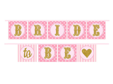 Bride to Be Bridal Shower ribbon banner