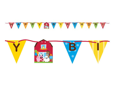 Farmhouse Birthday Ribbon Banner