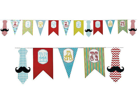 Little Man Pennant Banner