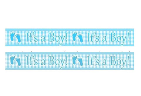 It's a Boy Plaid Baby Shower Banner