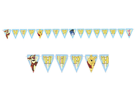 Pooh and Pals Plastic Banner