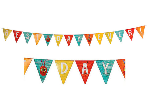 Eric Carle's The Very Hungry Caterpillar Best Day Ever Pennant Banner