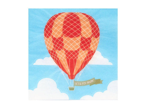 Up Up Away Beverage Napkins
