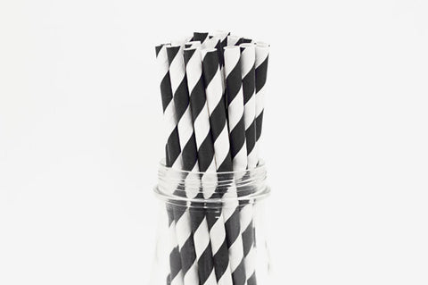 Paper Straws - Stripes - 25 ct - (click for more colors)