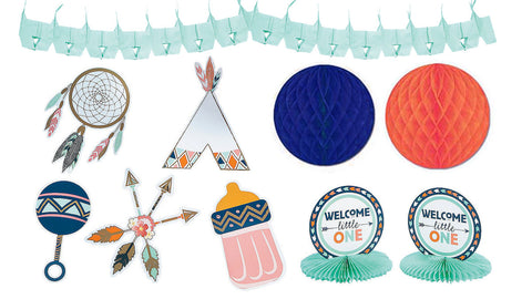 Boho Chic Baby Shower Decorating Kit