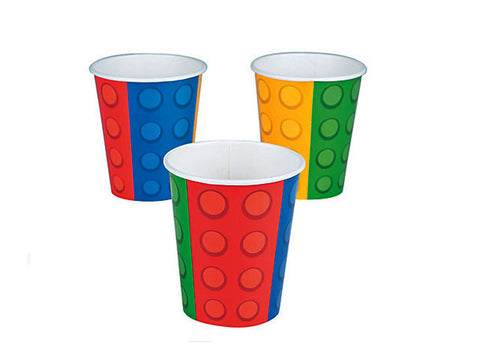 Blocks Party Paper Cups (8 ct)