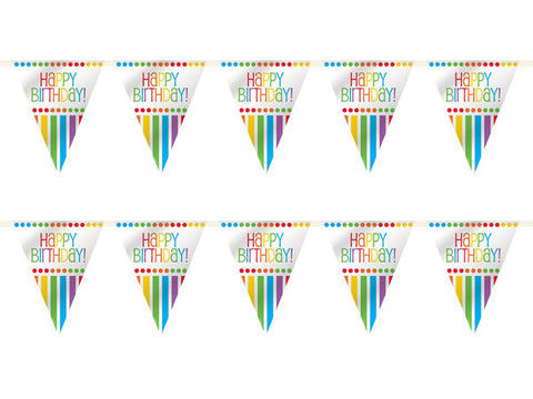 Rainbow Party Birthday Bunting